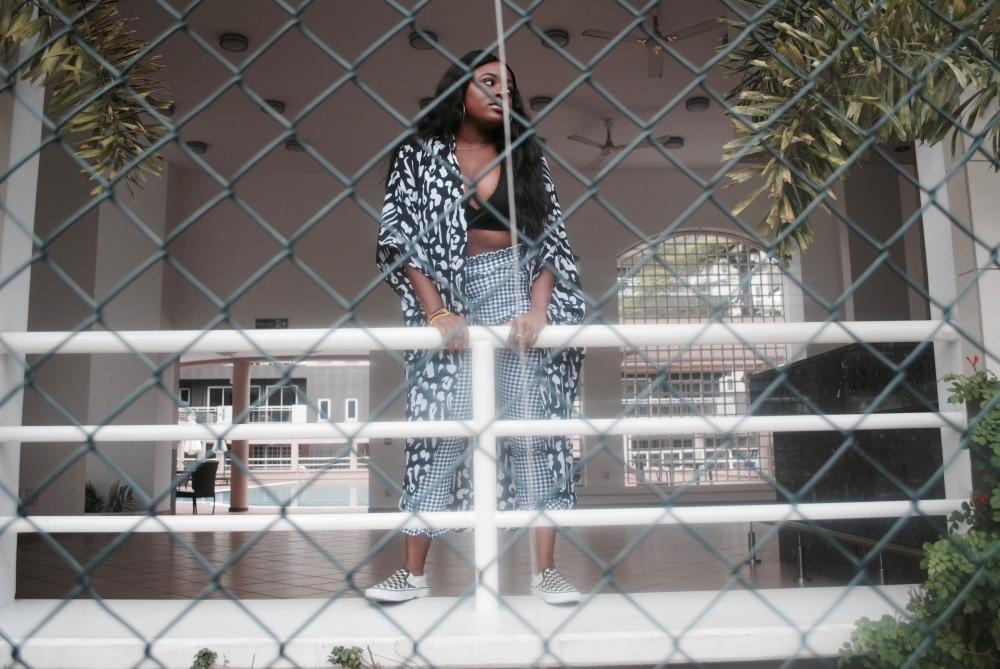monochrome - braltte - checkered pants - vans - prints 21