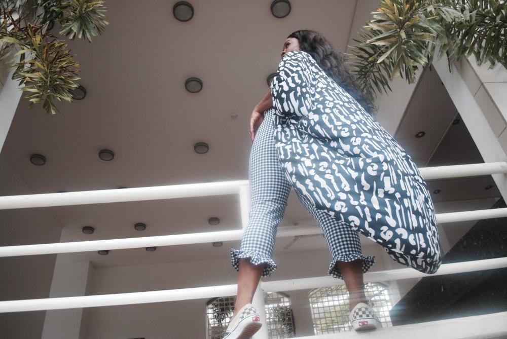 monochrome - braltte - checkered pants - vans - prints 8