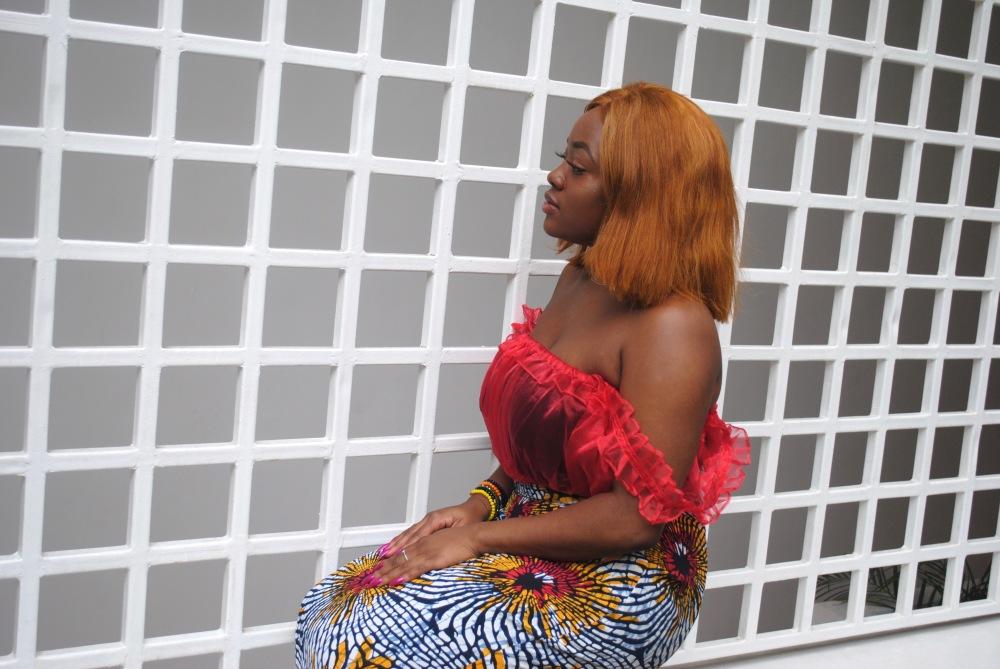 red ruffle top - ankara skirt - print - africa 11