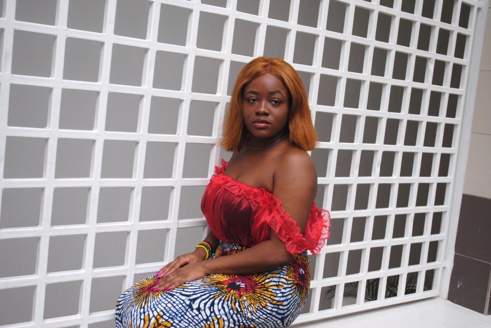 red ruffle top - ankara skirt - print - africa 12