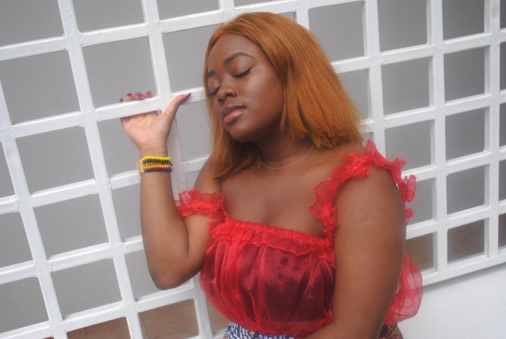 red ruffle top - ankara skirt - print - africa 2